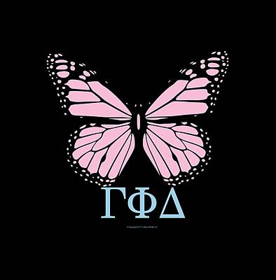 Digital Art - Gamma Phi Delta Classy Butterfly  by William Ladson