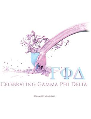 Digital Art - Gamma Phi Delta Splash by William Ladson
