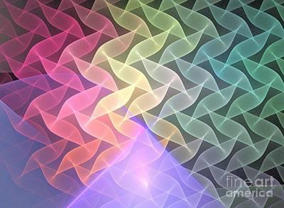 Chakra Rainbow Digital Art - Gamma Waves by Kim Sy Ok