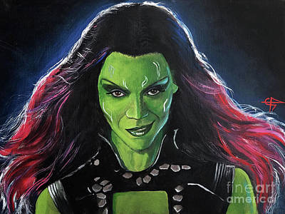 Painting - Gamora by Tom Carlton