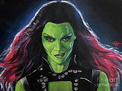 Painting - Gamora by Tom Carlton