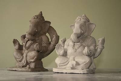Ganapati Idols Art Print by Mandar Marathe