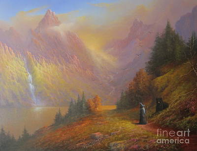 Gandalf Beorn A Chance Encounter Original by Joe  Gilronan