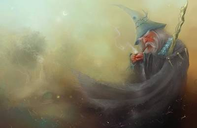 Gandalf Pipe Weed Art Print by Joe Gilronan