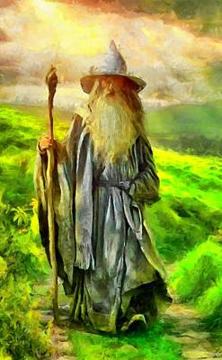 Digital Art - Gandalf, The  Grey by Caito Junqueira