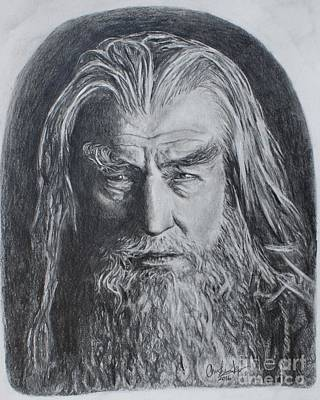 Drawing - Gandalf The White by Christine Jepsen