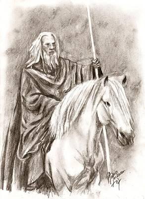 Gandalf With Shadowfax Art Print by Maren Jeskanen