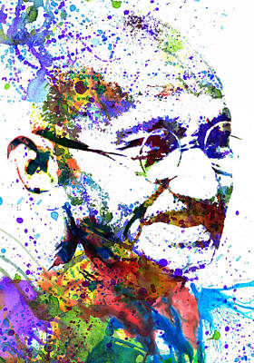 Celebrities Painting - Gandhi by Dante Blacksmith