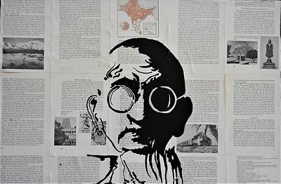 Mixed Media - Gandhi by Kruti Shah