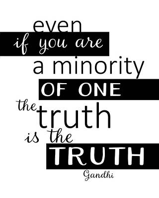 Digital Art - Gandhi Quote On Truth by Ann Powell
