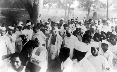 Gandhi Photograph - Gandhi Starts His Campaign Against by Everett