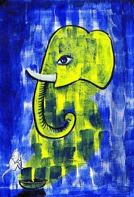 Ganesha Painting - Ganesh by Dhiraj Parashar