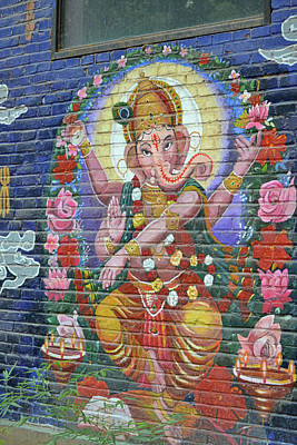 Photograph - Ganesh Graffiti by JAMART Photography