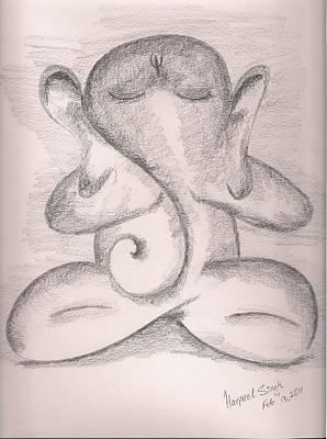 Parvati Drawing - Ganesh by Harpreet Singh