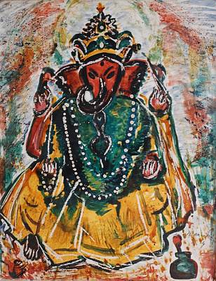 Painting - Ganesha-2 by Anand Swaroop Manchiraju