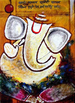 Ganesha  Art Print by Aarti Bartake