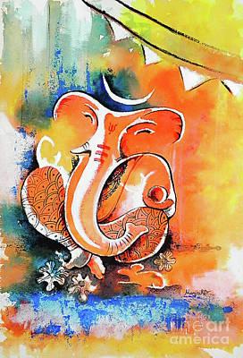 Lord Ganesha Painting - Ganesha by Hermana Arts