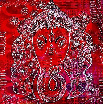 Ganesha Art Print by Julie Hoyle