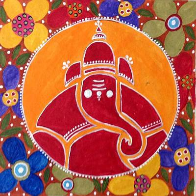 Painting - Ganesha  by Vidushini  Prasad