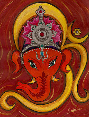 Ganesh Painting - Ganeshaom by Sabina Espinet