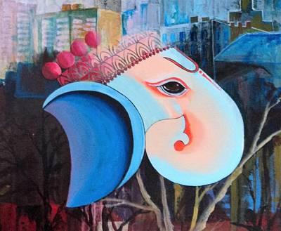 Ganapathi Painting - Ganeshaya by Rupa Prakash