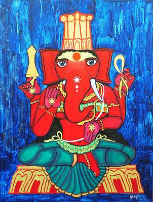 Painting - Ganeshini by Pratyasha Nithin