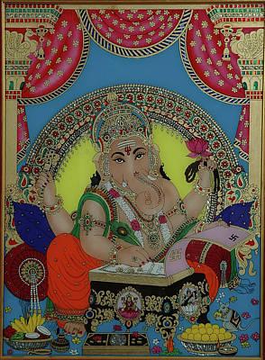 Ganeshji Art Print by Vimala Jajoo