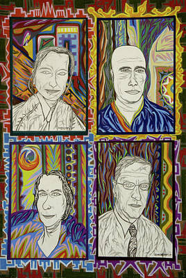 Painting - Gang Of Four by Robert SORENSEN