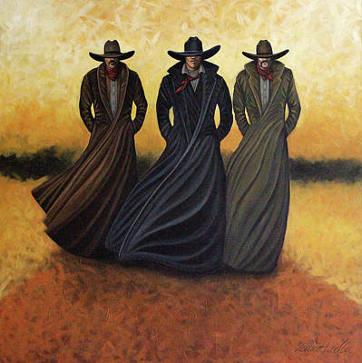 Gang Of Three Art Print by Lance Headlee