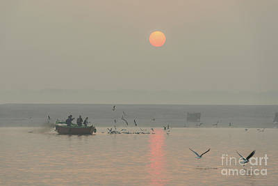 Photograph - Ganga Sunrise 01 by Werner Padarin