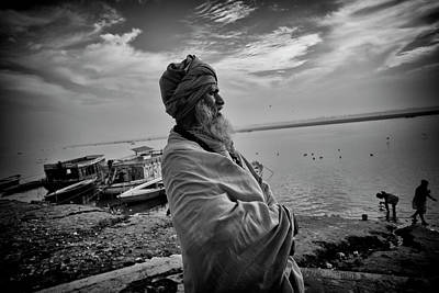 Photograph - Ganges Holy Man by David Longstreath