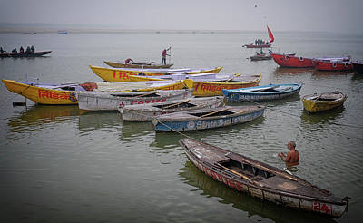 Photograph - Ganges River Boats by David Longstreath