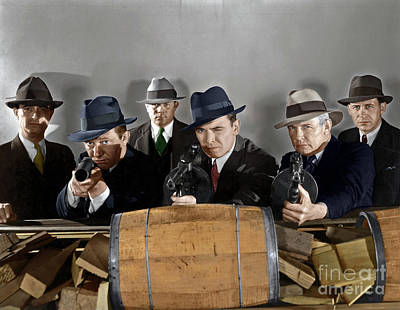 Art Print featuring the photograph Gangsters by Granger