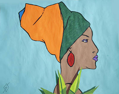 Painting - African Goddess by Stormm Bradshaw