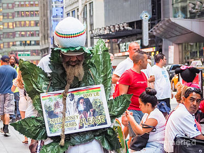 Photograph - Ganja Weed Man by Robin Zygelman