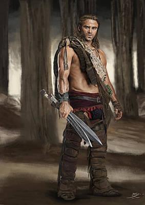 Spartacus Digital Art - Gannicus by Eber Riera