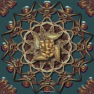 Digital Art - Ganpati Mandala  by Robert Thalmeier
