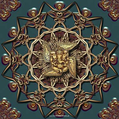 Digital Art - Ganpati Mandala  by Robert Thalmeier
