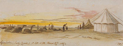 Drawing - Gantara by Edward Lear