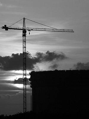Photograph - Gantry Crane Construction Site by Charles McKelroy