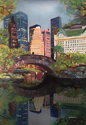 Gapstow Bridge Central Park Nyc Art Print by Wayne Pearce