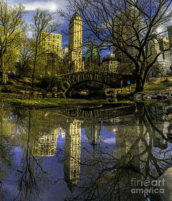 Photograph - Gapstow Bridge In Central Park by Nick Zelinsky