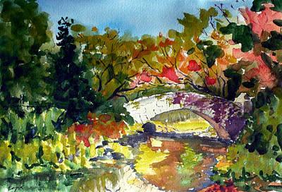 Gapstow Bridge In October Original by Chris Coyne