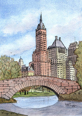 Gapstow Bridge Art Print by Reece Caldwell