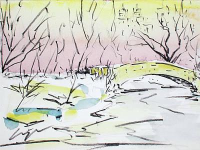 Gapstow In Winter Art Print by Chris Coyne