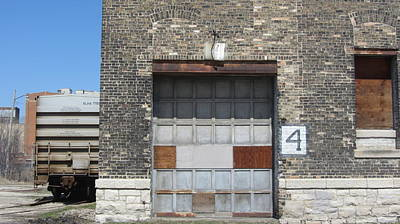 Photograph - Garage Door Industrial 1 by Anita Burgermeister