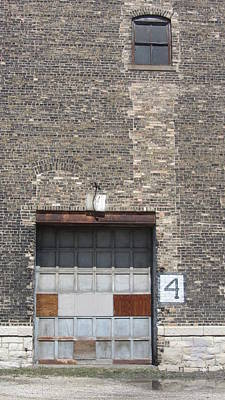 Photograph - Garage Door Industrial 2 by Anita Burgermeister