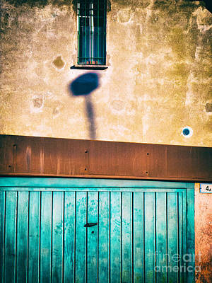 Photograph - Garage Door With Window And Shadow by Silvia Ganora
