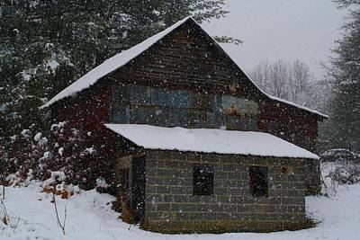 Photograph - Garage In The Snow by Kathryn Meyer