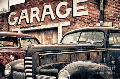 Garage Art Print by Jeremy Holmes